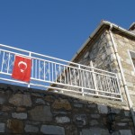 Turkey Flag on Bodrum Building