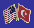 US Flag Turkish Flag Friendship pin