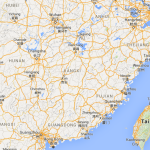 Map showing location of Changsha China